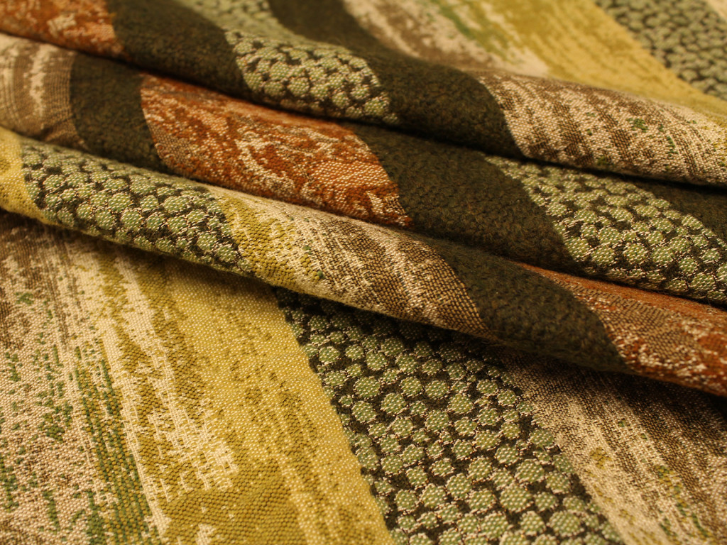 Riga verde con lurex giusti tessuti for Vendita tessuti arredamento on line