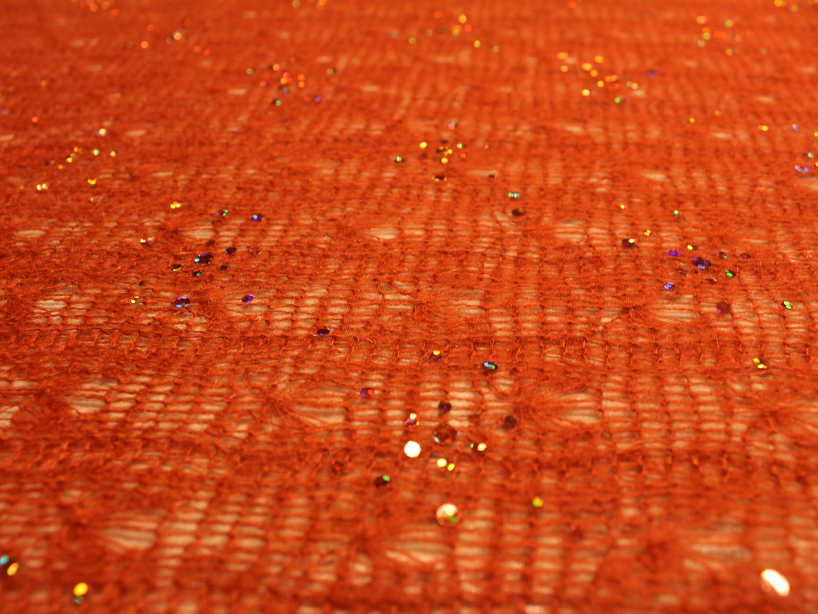 00349 Pizzo di lana paillettes