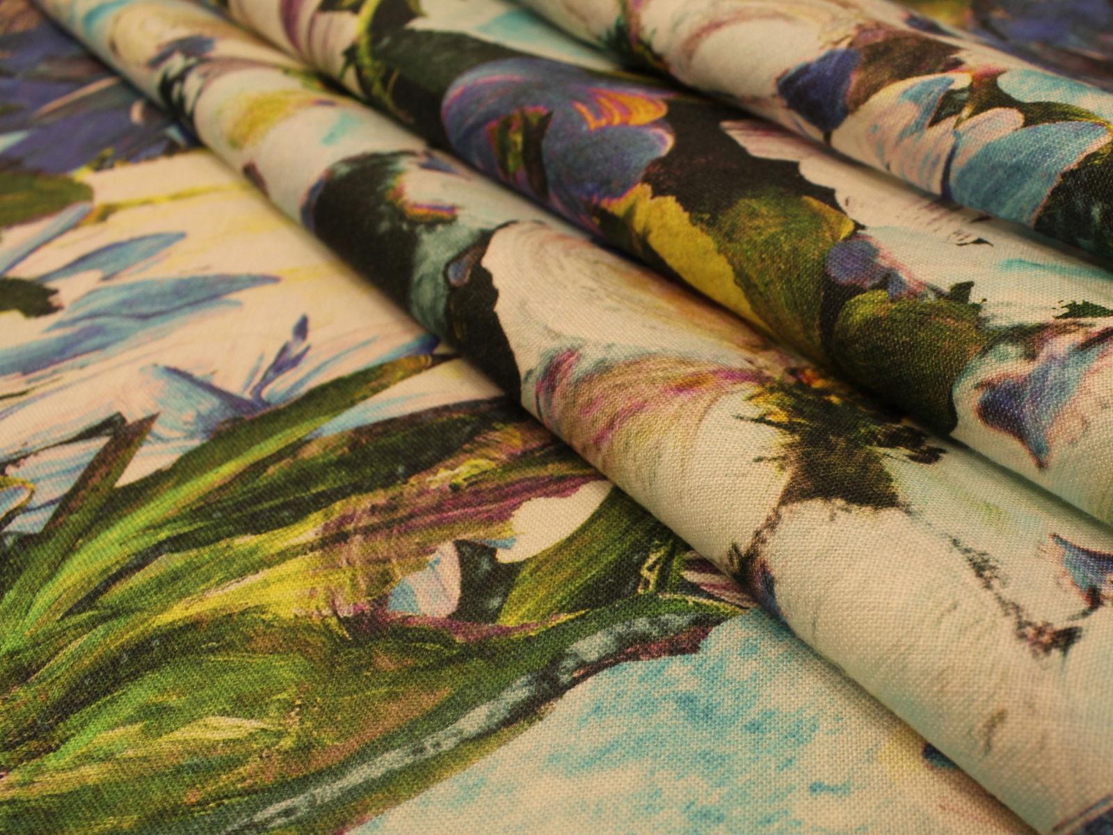 01192 Lino fiori dipinti   SOLO 0,65