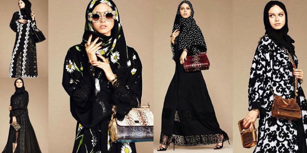 foto elle Il chador di lusso. La moda in continuo cambiamento affianca le tradizioni secolari.