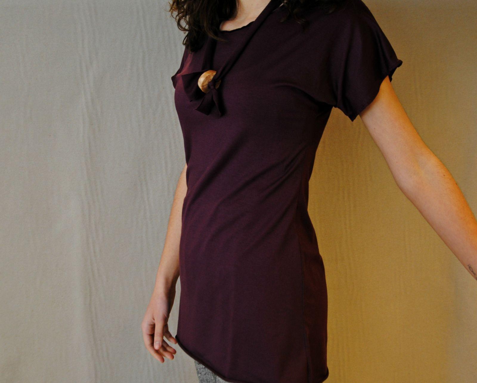 DSC 2265 t shirt MODAL marsala