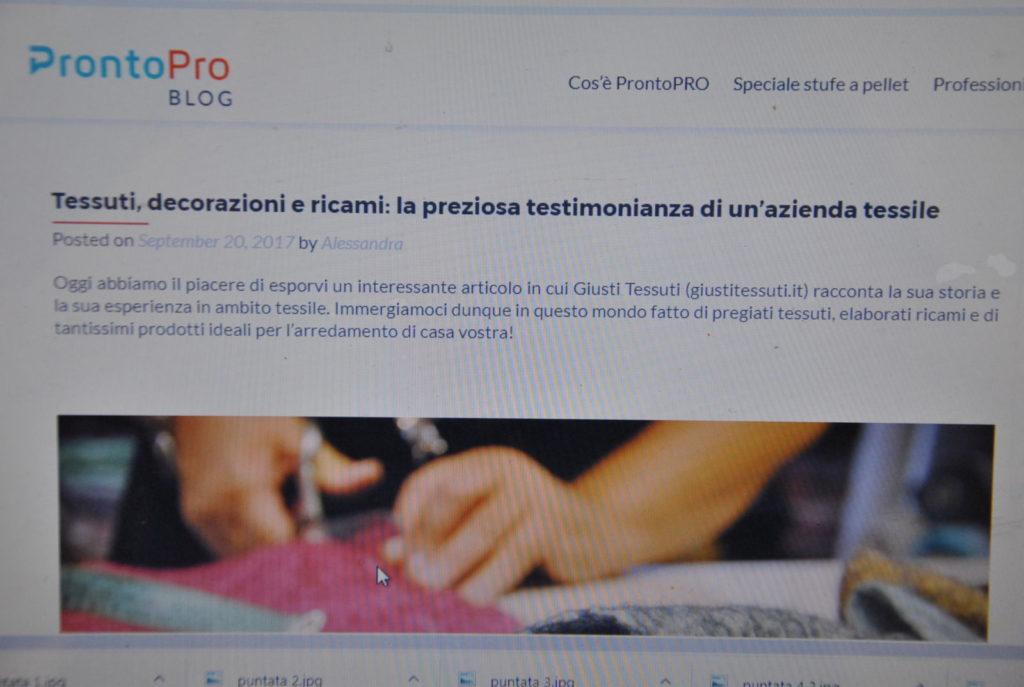 DSC 1826 2 1024x687 Intervista per ProntoPro Blog