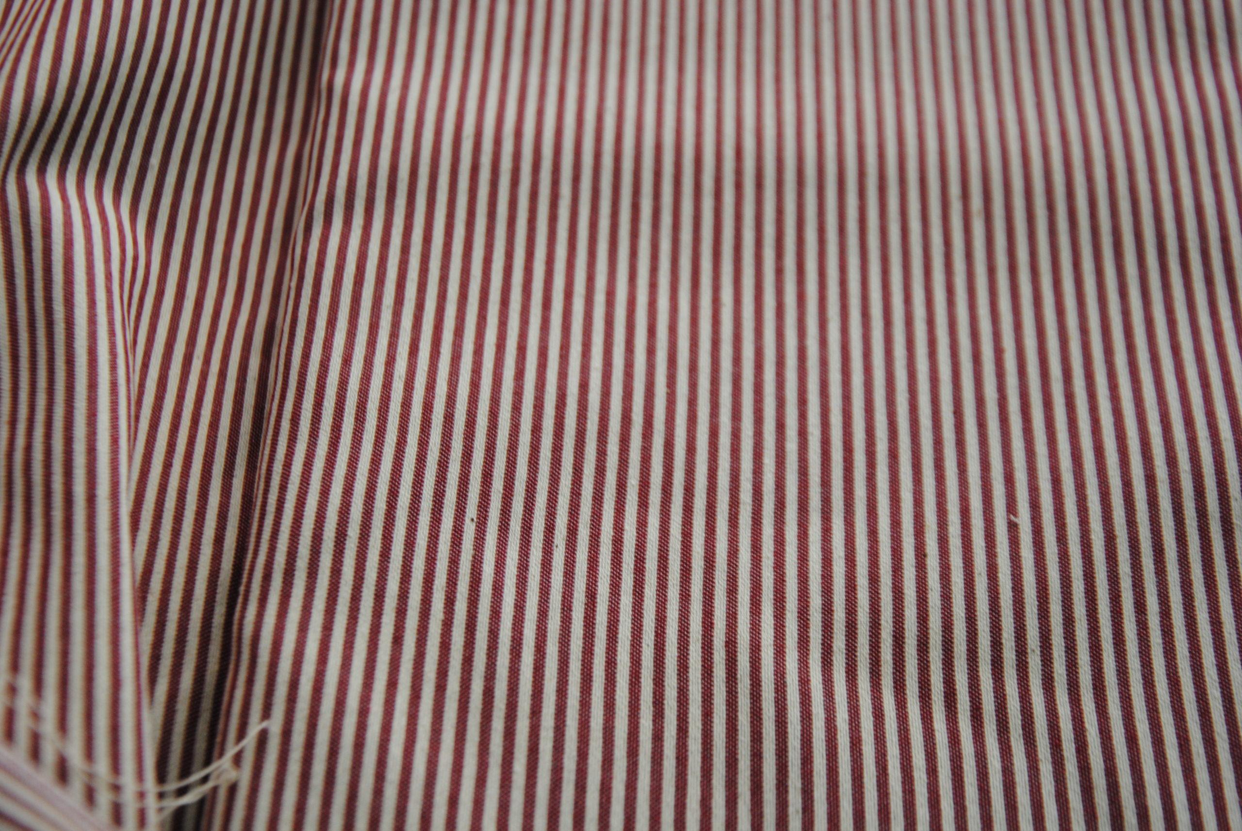 corona 27 scaled Red & White   riga cotone