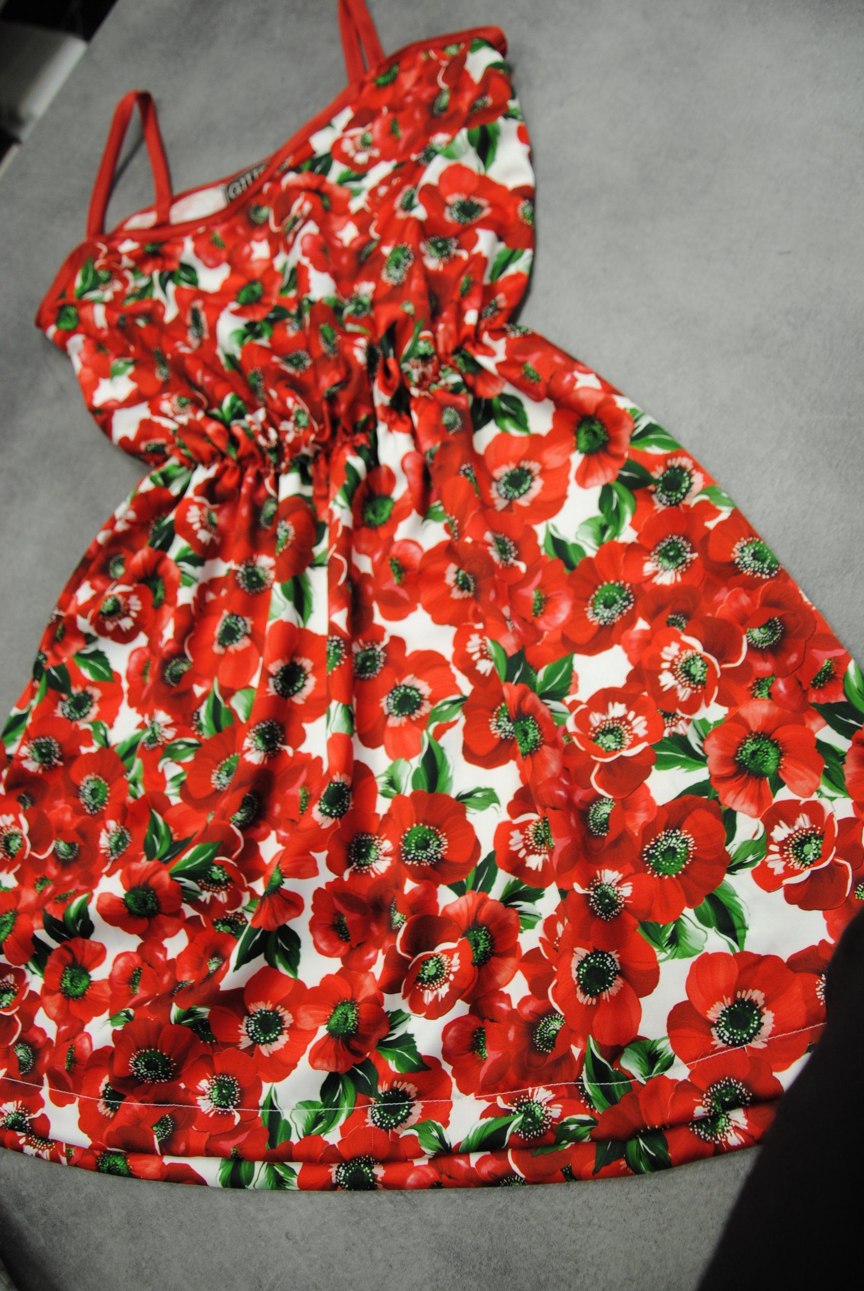 DSC 0009 4 scaled Papaveri e Papere   raso rosso & bianco ULTIMO TAGLIO